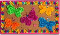 flowerArt Butterfly Bulletin Board
