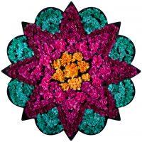 FlowerArt Star Round Teal