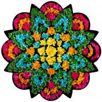 FlowerArt Star Round bright colors