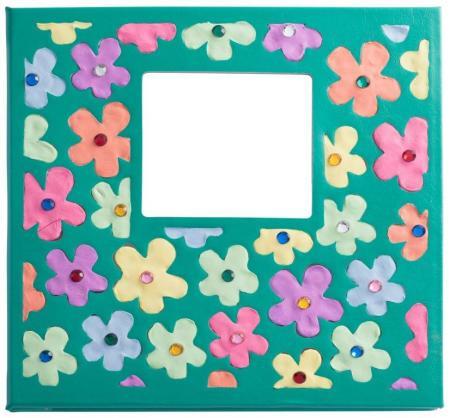 photo album flower clay art