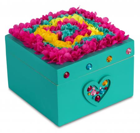 FlowerArt Jewelry box teal color