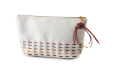 White personal bag witth cords