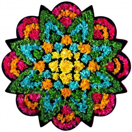 FlowerArt star colorful colors